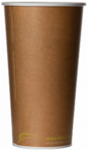 Bridge Gate® Renewable & Compostable Hot Cup, 20oz