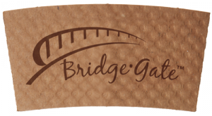 Bridge Gate® Renewable & Compostable Hot Cup Sleeve, At least 85% Post-Consumer Fiber