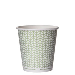 Compostable Hot Cup, Green Print
