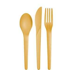 Compostable Cutlery Combo Kit, Yellow