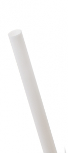 7.75in Compostable Straw, Unwrapped, White, 5mm