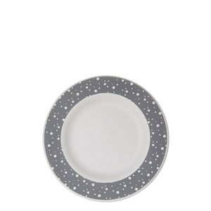7.5in Sugarcane Plate, Grey Dot