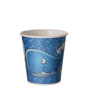 Renewable & Compostable Kids Cup, 10oz, Sea Design