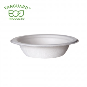 Vanguard™ Renewable & Compostable Sugarcane Bowls - 12oz