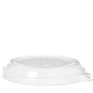 WorldView™ Renewable & Compostable Lid, Fit 12-16oz Sugarcane Coupe Bowls