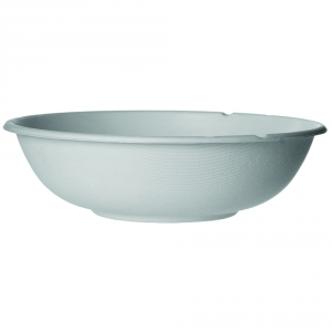 Renewable & Compostable Sugarcane Coupe Bowls - 32oz., Natural