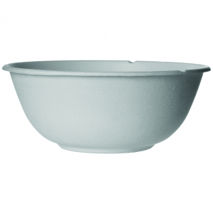 Renewable & Compostable Sugarcane Coupe Bowls - 46oz., Natural