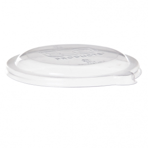 Compostable Sugarcane Bowl Lids, 6 & 8 oz, Clear