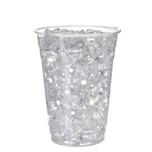 Compostable Cold Cup, Grey Dot