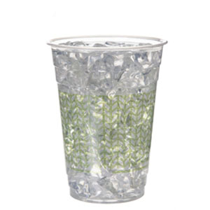 Compostable Cold Cup, Green Print