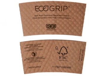 90% Post-Consumer Recycled Content EcoGrip® Hot Cup Sleeve