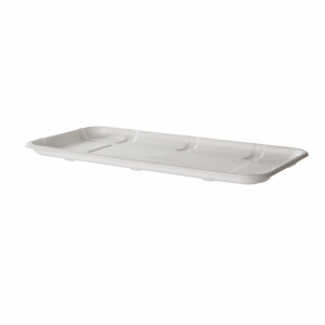 Renewable & Compostable Sugarcane Meat & Produce Trays, 11.02 x 6.02 x 0.56in, 10S