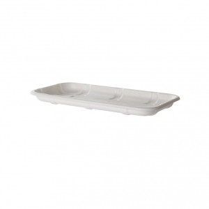 Renewable & Compostable Sugarcane Meat & Produce Trays, 8.57 x 4.77 x 0.66in, 17S