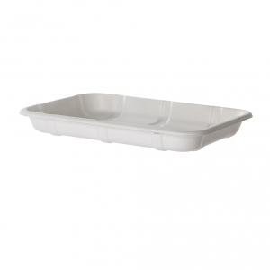 Renewable & Compostable Sugarcane Meat & Produce Trays, 8.5 x 6 x 1.0in, 2D