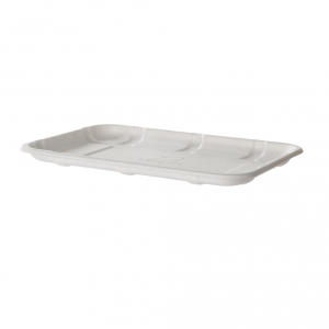 Renewable & Compostable Sugarcane Meat & Produce Trays, 8.5 x 6 x 0.56in, 2S