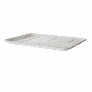 Renewable & Compostable Sugarcane Meat & Produce Trays, 10.52 x 8.5 x 0.56in, 8S