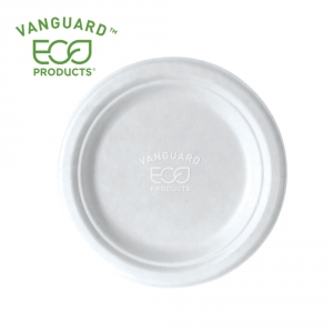 Vanguard™ Renewable & Compostable Sugarcane Plate - 7in