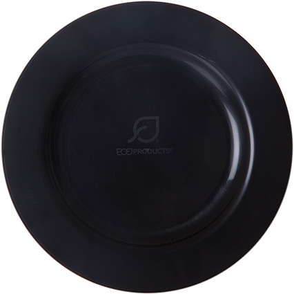 "7.5"" Black Compostable Plate"