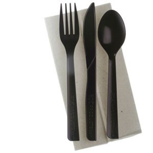 6 inch 100% Recycled Content Cutlery Kit