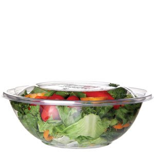 64oz. Renewable & Compostable Salad Bowls w/ Lids