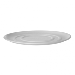 14in Sugarcane Pizza Tray, White