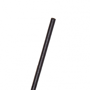 7.75in Jumbo Paper Straw, Unwrapped, Black, 6mm diameter