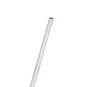 7.75in Jumbo Paper Straw, Unwrapped, White, 6mm diameter