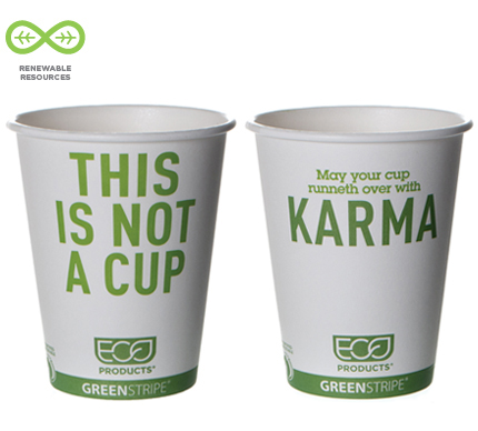 "12 oz. ""This is not a cup"" design"