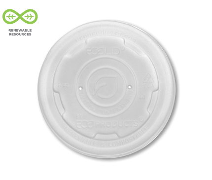 EcoLid® Renewable & Compostable Soup Container Lid