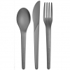 Compostable Cutlery Combo Kit, Grey
