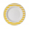 7.5in Sugarcane Plate, Yellow Stripe
