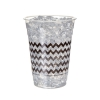 Compostable Cold Cup, Black Chevron