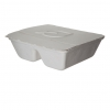 Folia™ (V) Renewable & Compostable Take-Out Container, 2-Cmpt, 8.25 x 7.5 x 2.5""