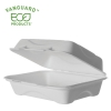 Vanguard™ Renewable & Compostable Sugarcane Clamshells - 9in x 6in x 3in