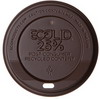 Ecolid® 25% Recycled Content Hot Cup Lid, Brown, Fits 20oz Insulated Cups