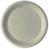Compostable Round Sugarcane Plates, 10in, Natural