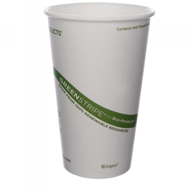 16 Oz Greenstripe 174 Hot Cup