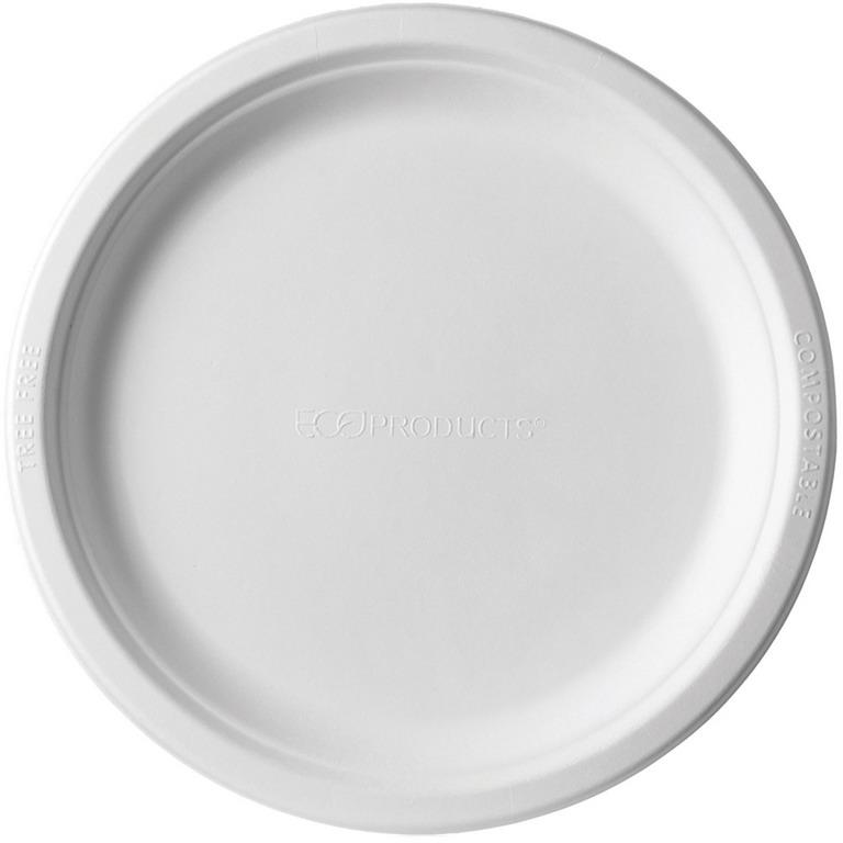 9 Inch Round Sugarcane Plate