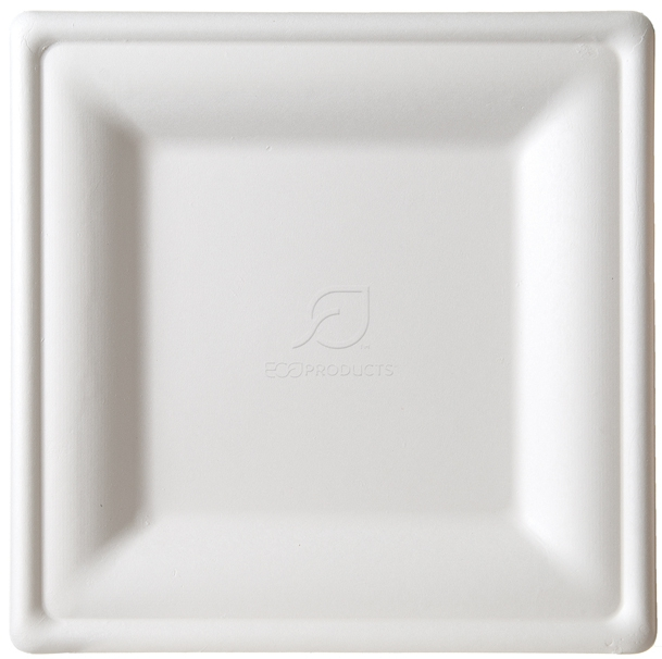 sc 1 st  Eco Products & Large Square Sugarcane Plate